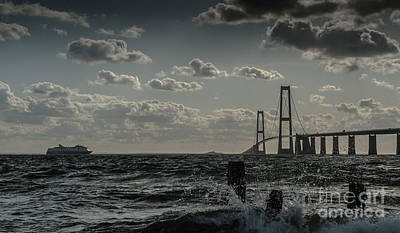 Photograph - Great Belt Bridge by Jorgen Norgaard
