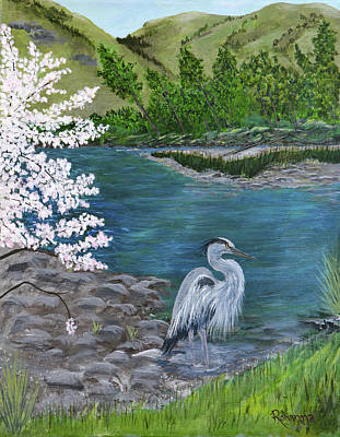 Painting - Great Blue Heron by Judy M Watts-Rohanna