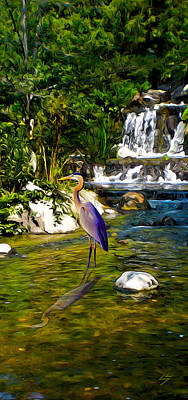 Digital Art - Great Blue Heron by Sotiri Catemis