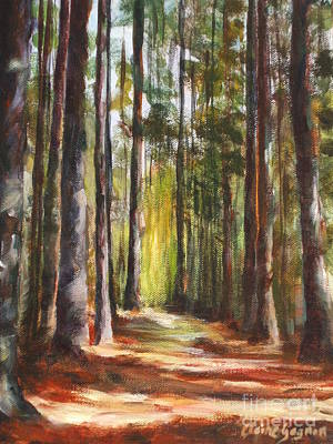 Painting - Great Brook Farm Summer Path by Claire Gagnon
