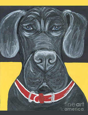 Ania Painting - Great Dane Poster by Ania M Milo