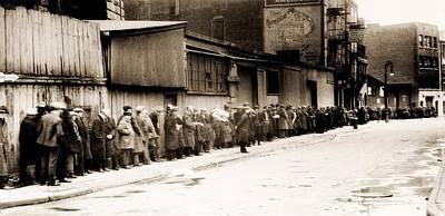 Great Depression Breadline At Mccauley Art Print