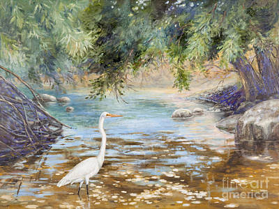 Painting - Great Egret by Patricia Baehr-Ross