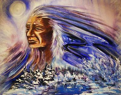 Art Print featuring the painting Great Father - Winter by Karen  Ferrand Carroll