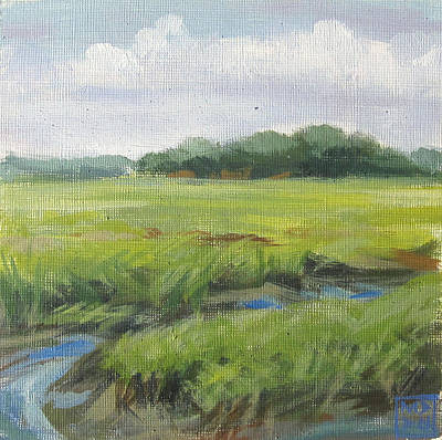 Massachussetts Painting - Great Marsh by Mary Brooking