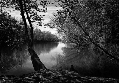 Photograph - Great Miami River -abw by Robert Clayton