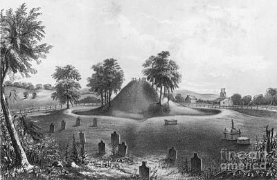 Great Mound At Marietta, 1848 Art Print by Photo Researchers