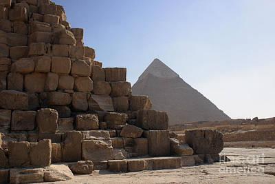 Great Pyramids Khafre Art Print by Darcy Michaelchuk