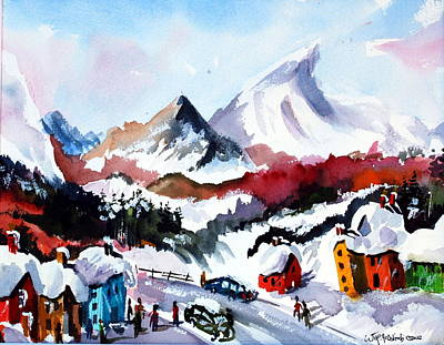 Painting - Great Snow Day by Wilfred McOstrich