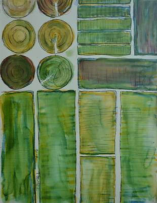 Excursion Mixed Media - Great Valley Fields by Bob Rowell