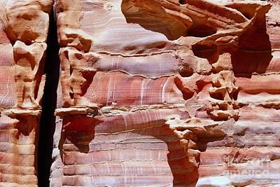 Digital Art - Great Wall Of Petra Jordan by Eva Kaufman