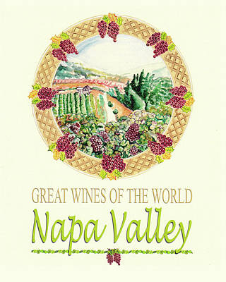 Great Wines Of The World -napa Valley Print by John Keaton