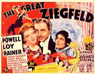 Great Ziegfeld, The, Myrna Loy, William Art Print
