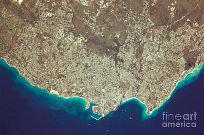 Bridgetown Photograph - Greater Bridgetown Area, Barbados by NASA/Science Source