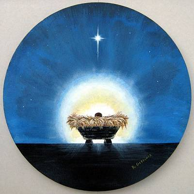 Manger Mixed Media - Greatest  Gift by Riley Geddings