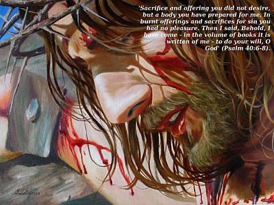 Christian Painting - Greatest Sacrifice by Yulia Litvinova