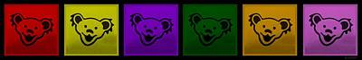 Photograph - Greatul Dead Dancing Bears In Muti Colors by Rob Hans