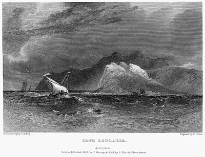 Lefkada Photograph - Greece: Cape Lefkada, 1832 by Granger