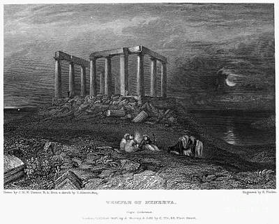Greece: Cape Sounion, 1832 Print by Granger