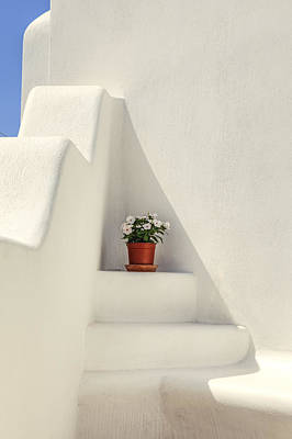 Staircase Photograph - Greece by Joana Kruse