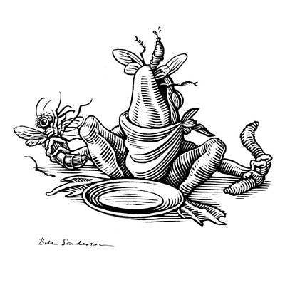 Greedy Frog, Conceptual Artwork Art Print by Bill Sanderson