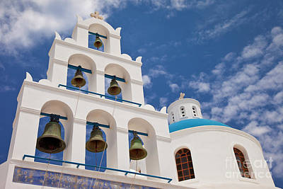 Photograph - Greek Bell Tower by Brian Jannsen