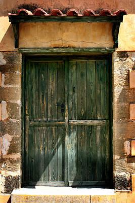 Old Doors Photograph - Greek Door by Shane Rees