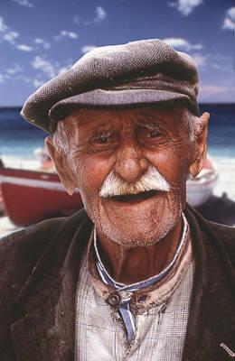 Greek Fisherman Art Print by Ron Schwager