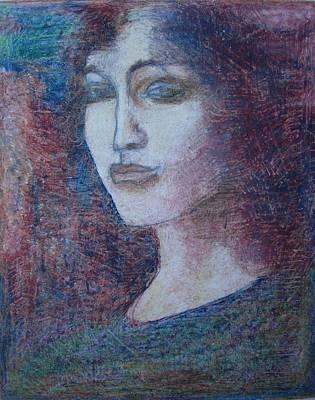 Drawing - Greek Girl by Diane montana Jansson