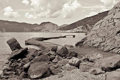 Skopelos Photograph - Greek Harbour by Tom Gowanlock