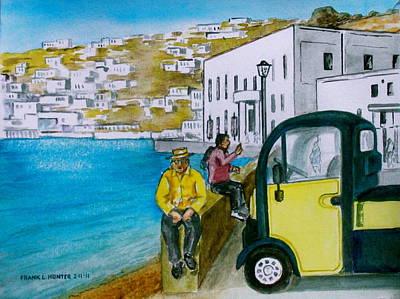 Greek Island Of Mykonis Art Print by Frank Hunter