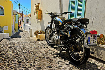 Photograph - Greek Island Royal Enfield by Meirion Matthias
