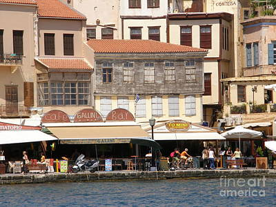Chania Photograph - Greek Life by Sophie Vigneault