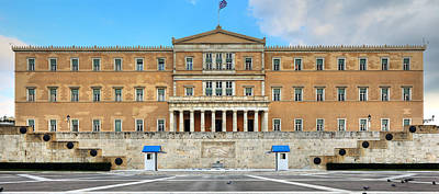 Greek Parliament Art Print by Constantinos Iliopoulos
