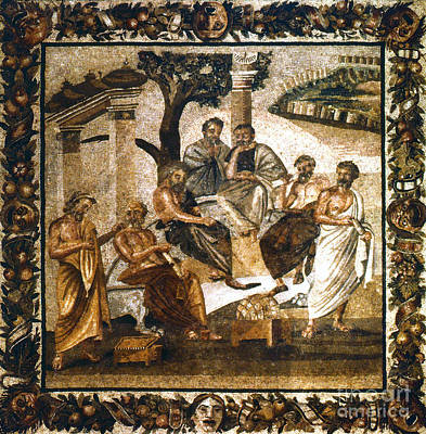 Platonic Photograph - Greek Philosophers by Granger