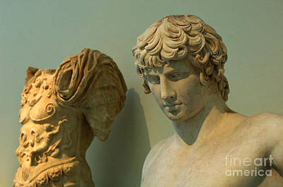 Greek Statue Of A Young Soldier Art Print