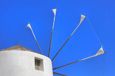 Cyclades Photograph - Greek Windmill by Joana Kruse