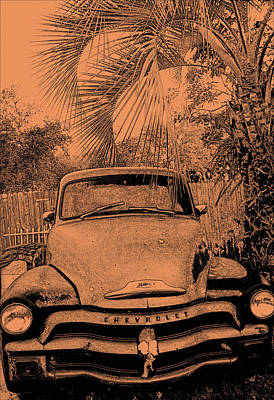 Greeks Truck Art Print by Gerald Cooley