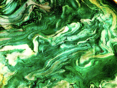 Mixed Media - Green Agate by Bruce Ritchie