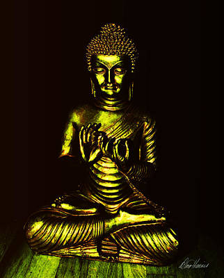 Photograph - Green And Gold Buddha by Diana Haronis