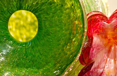 Photograph - Green And Red by Artist and Photographer Laura Wrede