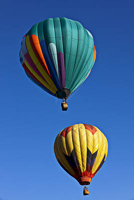 Photograph - Green And Yellow Balloons by Garry Gay