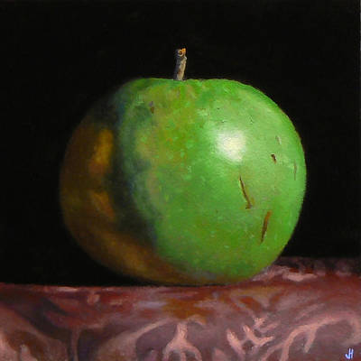 Green Apple Number 4 Art Print by Jeffrey Hayes