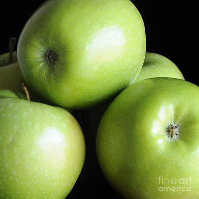 Photograph - Green Apples by Nancy Greenland