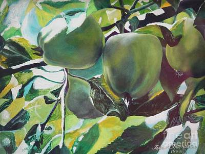 Painting - Green Apples by Terri Thompson