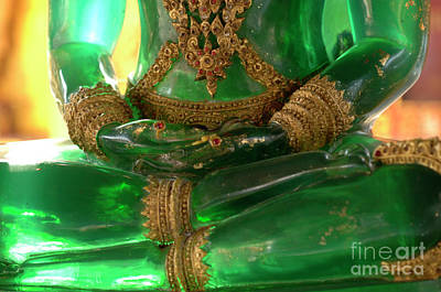 Photograph - Green Buddha Details by Bob Christopher