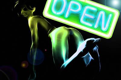 Lolita Digital Art - Green Butt by Steve K