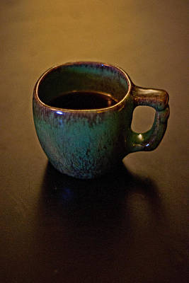 Art Print featuring the photograph Green Cup Of Coffee by Randall  Cogle