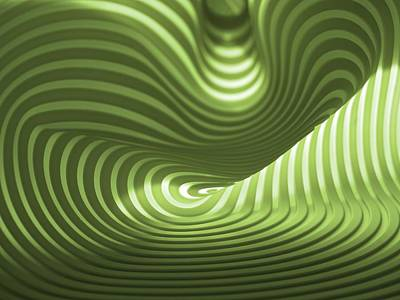 Green Curves Art Print