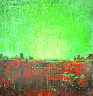Art Print featuring the painting Green Day by Lolita Bronzini